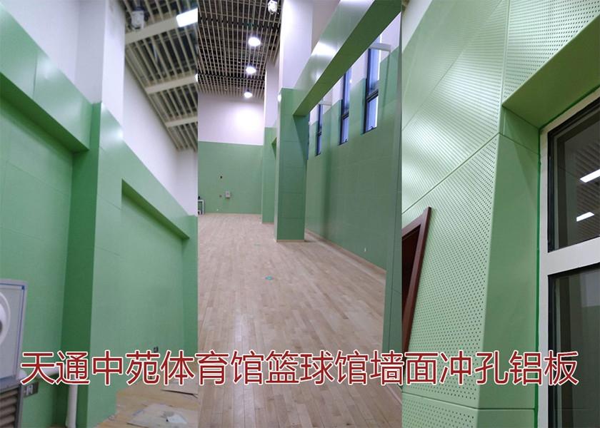 天通中苑体育馆冲孔铝单板