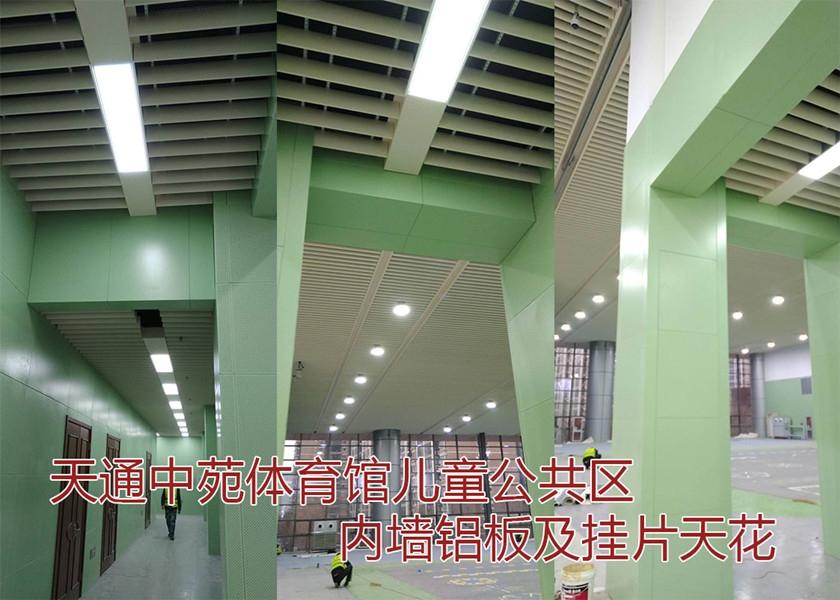 天通中苑体育馆内墙铝单板及挂片天花